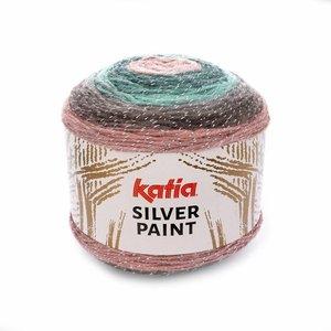 Katia Silver Paint Lichtroze/Turquoise/Grijs/Medium bleekrood (103)