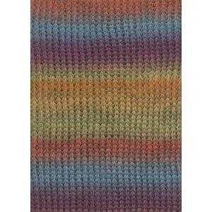 Lang Yarns Rosalba Oranje/Violet/Jeans/Meloen (1)