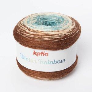 Katia Winter Rainbow Beige-Turquoise (102)