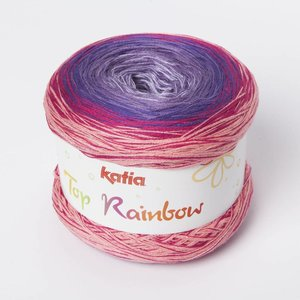Katia Top Rainbow Bleekrood/Lila (84)