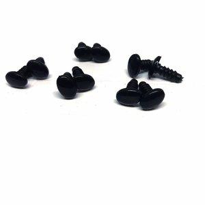 Veiligheidsogen ovaal zwart (zakje van 5 paar)