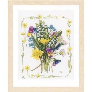 Lanarte Borduurpakket veldboeket met bloemenrand