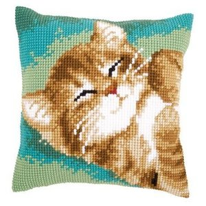 Vervaco Kussen spinnende kat
