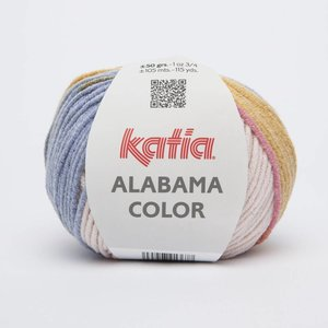 Katia Alabama color ecru/jeans/wijnrood/mosterdgeel (107)