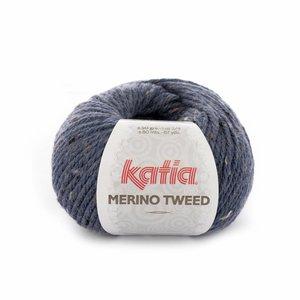 Katia Merino Tweed 305 - donkerblauw