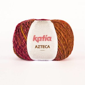 Katia Azteca fuchsia-wijnrood-bruin (7837)