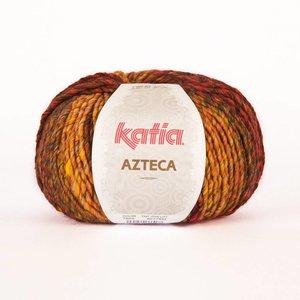 Katia Azteca wijnrood-oranje-rood-geel (7825)