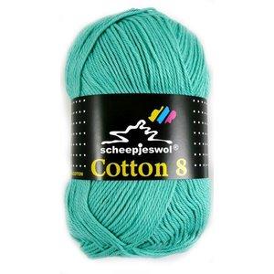 Scheepjes Cotton 8 licht blauw/groen (665)