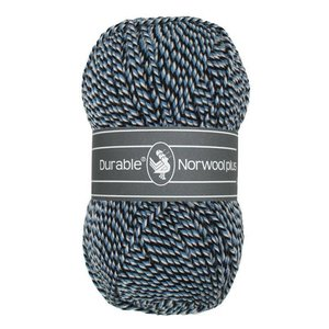 Durable Norwool Plus zwart/blauw/wit (M00235)