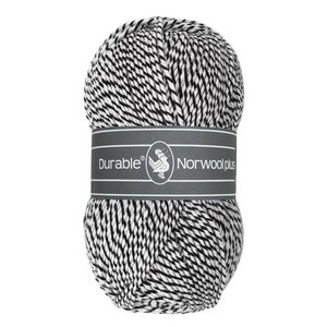 Durable Norwool Plus zwart/wit (M000)