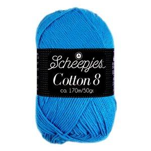 Scheepjes Cotton 8 aqua blauw (563)