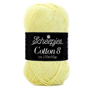 Scheepjes Cotton 8 lichtgeel (508)