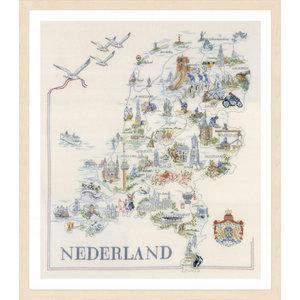 Lanarte Borduurpakket Kaart van Nederland