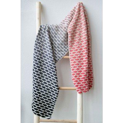 Haakpakket Honinggolfjes sjaal Koraal/Grijs