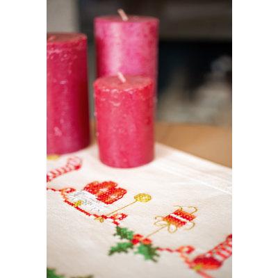 Vervaco Borduurpakket loper Kerstmotiefjes