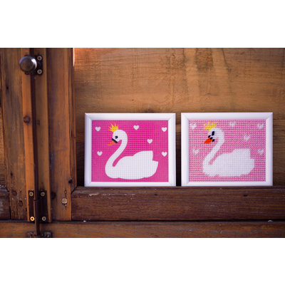 Vervaco Canvas Zwaan - Kits 4 Kids