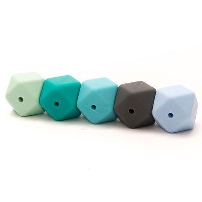 Durable Siliconen hexagon kralen 17mm
