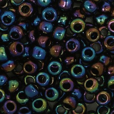 Toho Glaskralen rond 8-0 blauw/groen/paars (86)