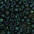 Toho Glaskralen rond 8-0 groen/paars (384)