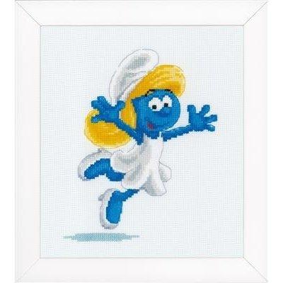 Vervaco Borduurpakket The Smurfs Smurfette 17 x 18 cm