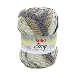 Katia Easy Jacquard Bruin Grijs (350)