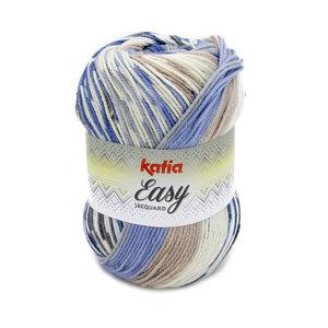Katia Easy Jacquard 352 - Blauw Bruin
