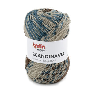Katia Scandinavia 202 - Groenblauw Bruin