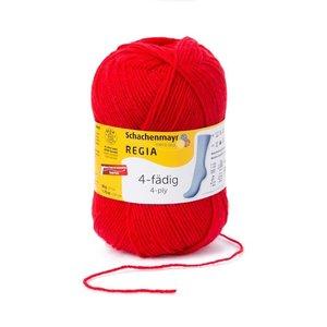 Schachenmayer Regia sokkenwol 4 draads 2054 - helderrood