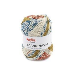Katia Scandinavia 302 - Oranje Mosgroen Blauw