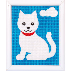 Vervaco Penelope Kit Witte Poes - Kits 4 Kids