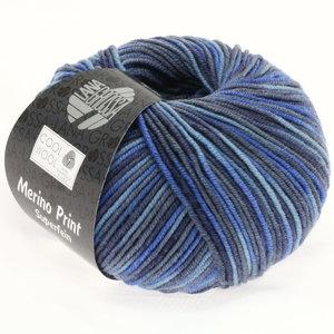 Lana Grossa Cool Wool Print 716 - jeans/grijs blauw/royaal