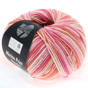 Lana Grossa Cool Wool Print 726 - rose/felroze/koraal/ecru