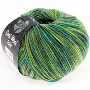 Lana Grossa Cool Wool Print 784 - geelgroen/turkoois/grijs groen/petrol