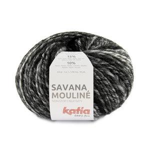 Katia Savana Mouliné 200 - Wit/Grijs/Zwart