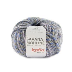 Katia Savana Mouliné 207 - Beige/Lila/Pastelblauw