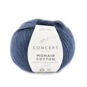 Katia Mohair Cotton 83 - Saffierblauw