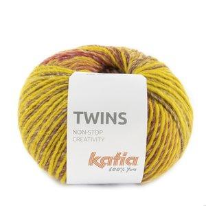 Katia Twins 159 - Mosterdgeel/Leembruin