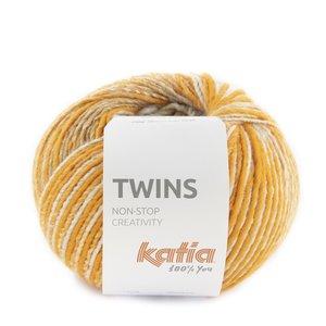 Katia Twins 160 - Oranje/Licht Bruin