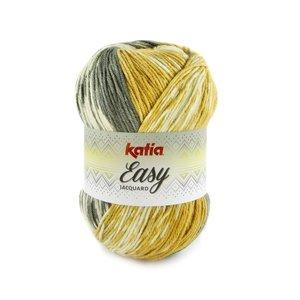 Katia Easy Jacquard 312 - Mosterdgeel/Antracietgrijs