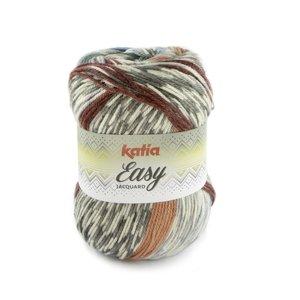 Katia Easy Jacquard 105 - Grijs/Groenblauw/Bordeauxpaars/Bleekrood