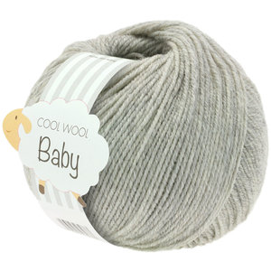 Lana Grossa Cool Wool Baby 206 - Licht Grijs Gemêleerd