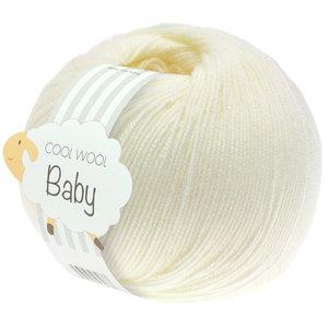Lana Grossa Cool Wool Baby 213 - Ruw Wit