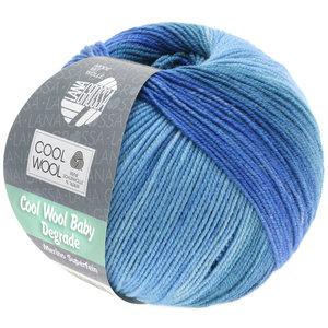Lana Grossa Cool Wool Baby Dégradé 504 - Jeansblauw/Duifblauw/Blauw
