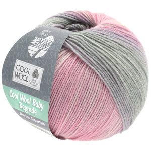 Lana Grossa Cool Wool Baby Dégradé 508 - Zachtroze/Anjer/Licht Grijs/Paars