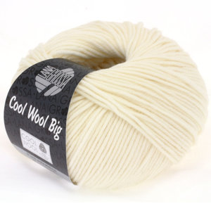 Lana Grossa Cool Wool Big 601 - Ruw Wit