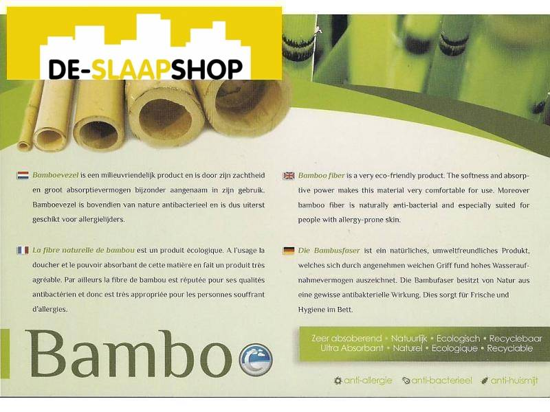 Matras pocketvering latex 350 bamboe 90x210