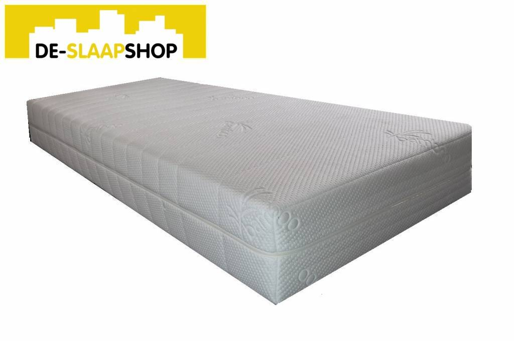 Matras pocketvering latex 500 bamboe 80x200