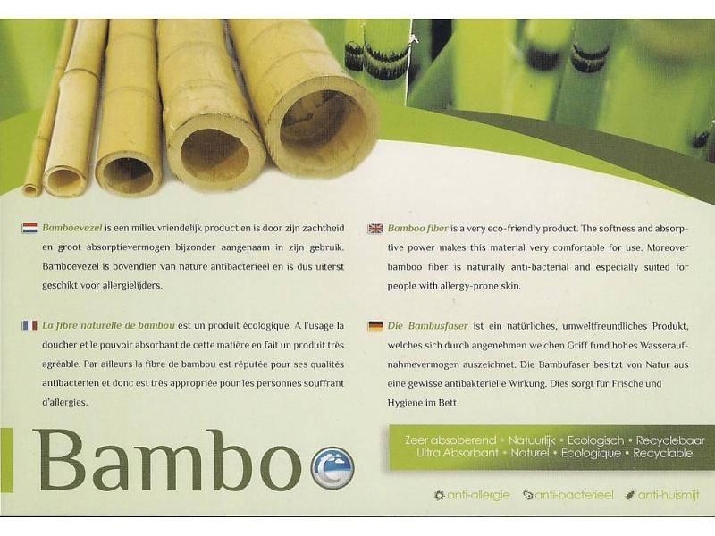 Koudschuim topmatras bamboe 140x220