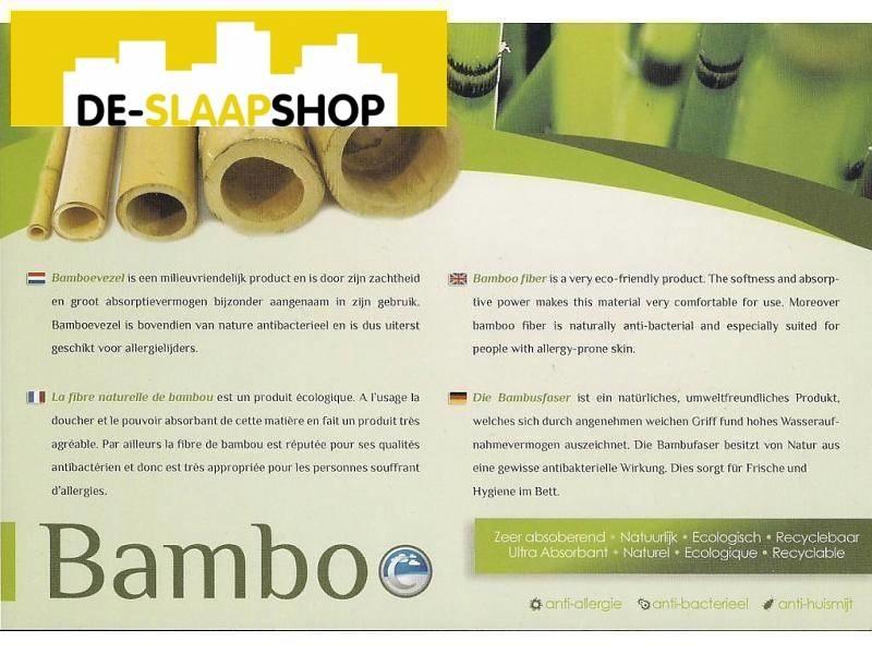 Matras pocketvering traagschuim 350 bamboe 180x210
