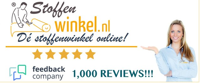 1000 reviews Stoffenwinkel